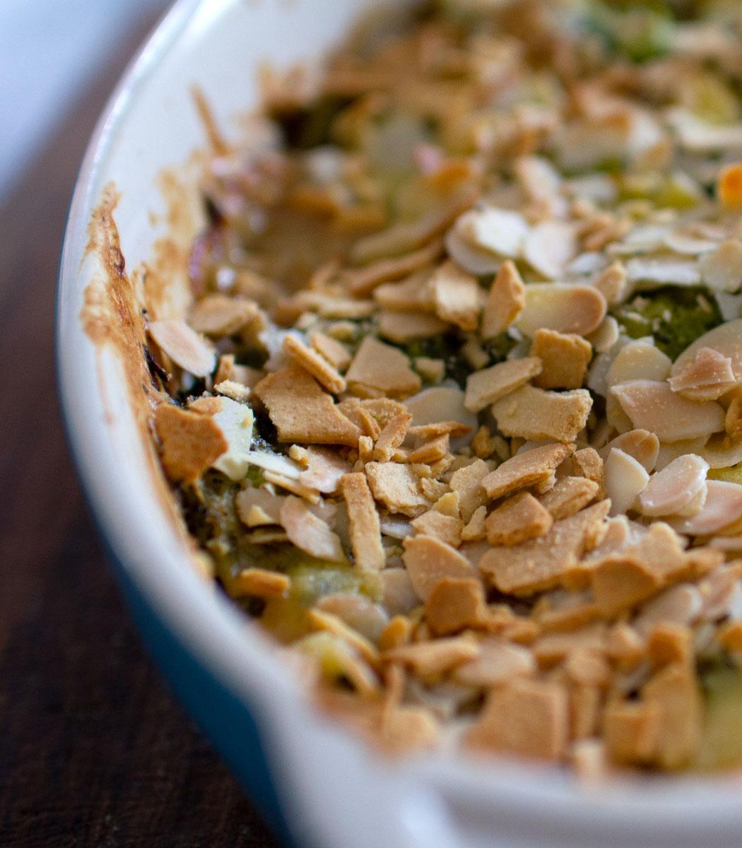 Cheesy Sharpham Rustic Garlic & Chive Broccoli Bake