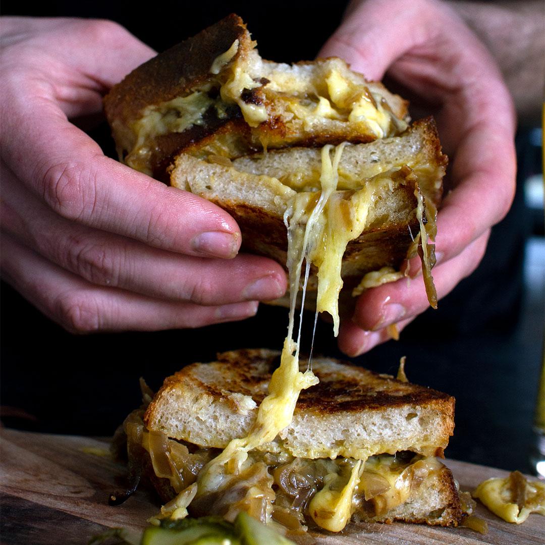 Oglesheild, Cornish Kern, Caramelized Onion, Sourdough Melt